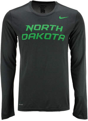 Nike Men's North Dakota Fighting Hawks Dri-fit Legend Wordmark Long Sleeve T-Shirt