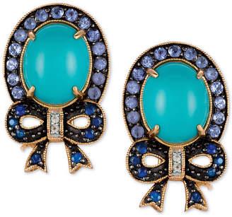 LeVian Le Vian Multi-Gemstone (6-1/8 ct. t.w.) Bow Stud Earrings in 14k Gold