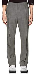 Lanvin Men's Houndstooth Wool Pleated Trousers-Black