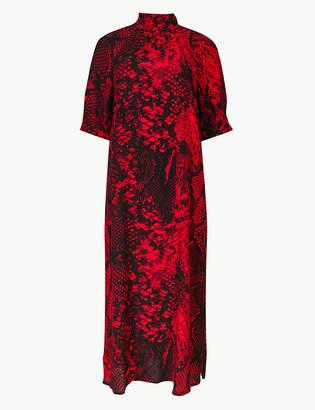 Marks and Spencer Animal Print Shift Midi Dress