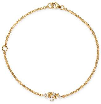 Bloomingdale's Diamond Pyramids Bracelet in 14K Yellow Gold, 0.10 ct. t.w. - 100% Exclusive