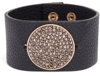 Women's Treasure & Bond Pave Disc Leather Cuff $45 thestylecure.com