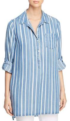 Velvet Heart Shoshana Striped Chambray Tunic Top
