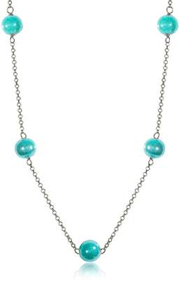 Antica Murrina Veneziana Perleadi Turquoise Murano Glass Beads Necklace