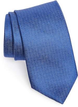 David Donahue Geometric Silk X-Long Tie