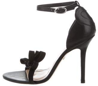 Isa Tapia Bow-Accented Ankle Strap Sandals