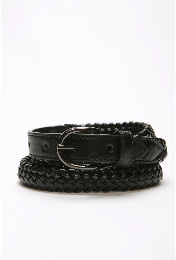 UO Braided Leather Belt
