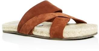 Bloomingdale's The Men's Store at Men's Suede Crisscross Slide Sandals - 100% Exclusive