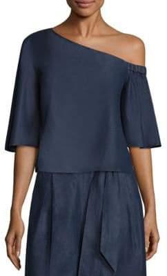 Tibi One-Shoulder Cotton Top