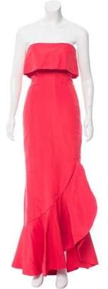 Oscar de la Renta Strapless Evening Gown