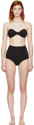 Lisa Marie Fernandez Black Poppy Zip Bikini