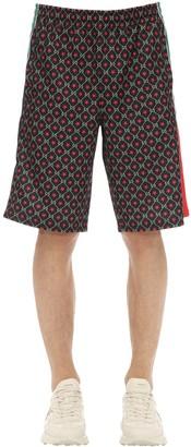 Gucci Gg Logo Cotton Blend Track Shorts
