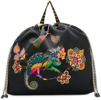 Etro printed drawstring backpack