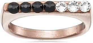 Chamak by Priya Kakkar Two-Tone Swarovski Element Crystals Ring