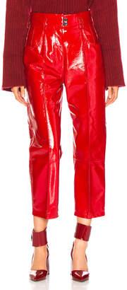 Petar Petrov Hollis Pants in Red Patent | FWRD