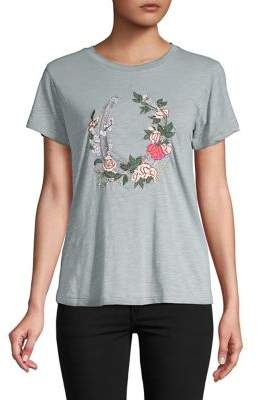 Lucky Brand Floral Wreath Tee