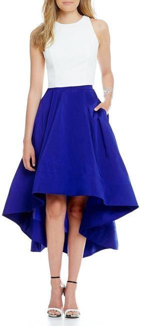 Aidan MattoxAidan Mattox - Jewel Neckline High Low Dress MN1E200334