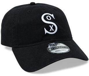 New Era 9Twenty Chi White Sox Washed Black Hat