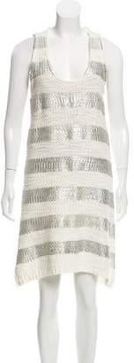 Helmut Lang Striped Knee-Length Dress
