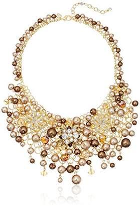 Carolee Metropolitan Club Statement Cluster Necklace