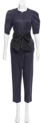 Rebecca Taylor Skinny-Leg Short Sleeve Jumpsuit