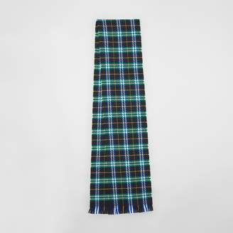 Burberry Check Merino Wool Scarf, Blue