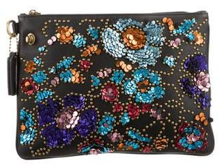 Rodarte Coach x Embellished Leather Clutch