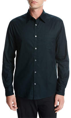Vince Single-Pocket Cotton Sport Shirt