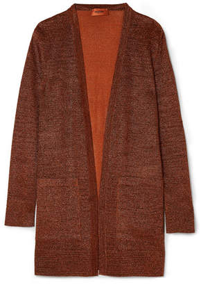 Missoni Metallic Stretch-knit Cardigan - Bronze