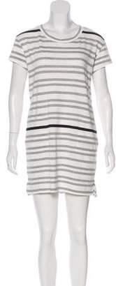 White + Warren Striped Knit Dress w/ Tags