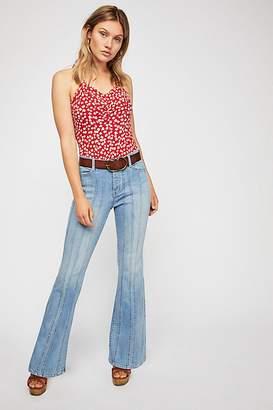 So Many Seams Flare Jeans