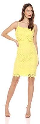 Nanette Lepore Nanette Women's Strappy Lace Peplum Sheath