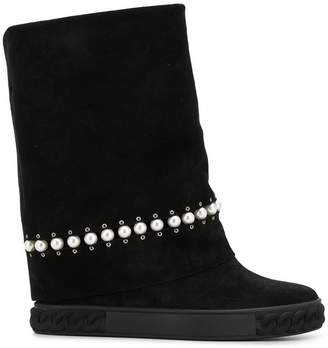 Casadei pearl embellished boots