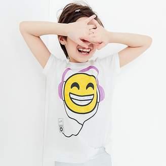 J.Crew Girls' headphone-wearing emoji T-shirt