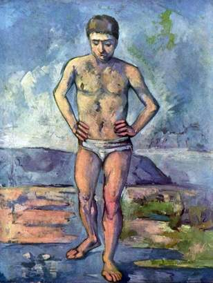 Cezanne The Museum Outlet - A Swimmer by Canvas Print Online Buy