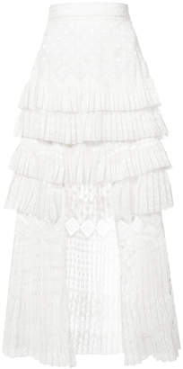 Zimmermann layered pleated skirt