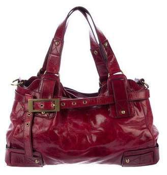 Kooba Glazed Leather Satchel