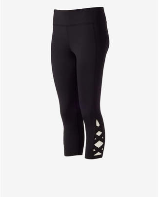 Express EXP Core Lace-up Cropped Legging $59.90 thestylecure.com