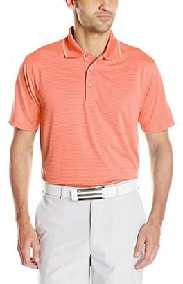 PGA TOUR Men's Golf Performance Short Sleeve Two Color Airflux Stripe Polo Shirt