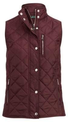 Ralph Lauren Diamond-Quilted Vest Red Sangria Xl