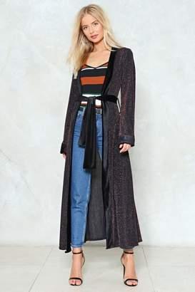 Nasty Gal Edgy Gal Lurex Kimono