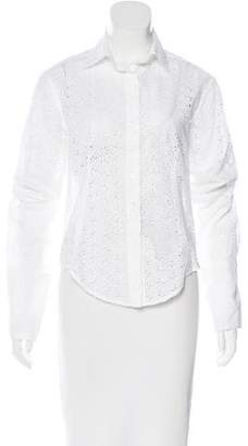Alaia Eyelet Button-Up Top