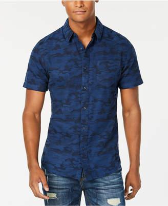 American Rag Men's Camouflage Jacquard Pocket Shirt