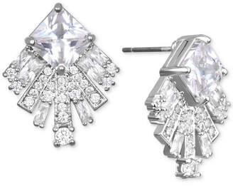 Badgley Mischka Square Crystal Fan Drop Earrings