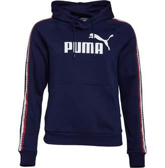 Puma Womens Tape Fleece Hoodie Peacoat