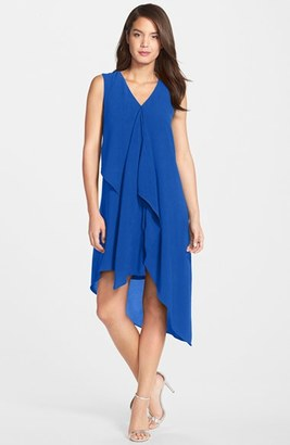Women's Adrianna Papell Ruffle Front Crepe High/low Dress $140 thestylecure.com
