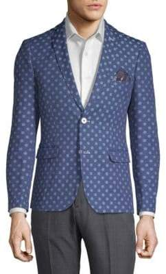 Slim-Fit Polka Dot Jacket