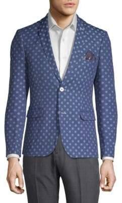 Slim-Fit Polka Dot Jacket