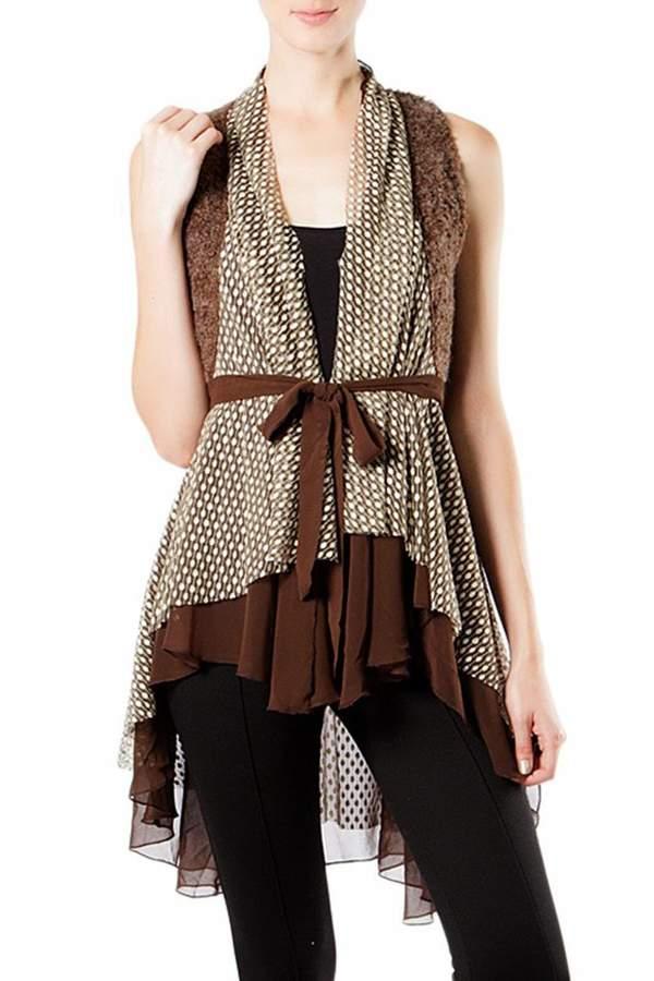 The Vintage Valet Brown Chiffon Vest