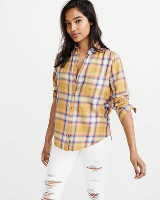 Abercrombie & Fitch Drapey Plaid Shirt